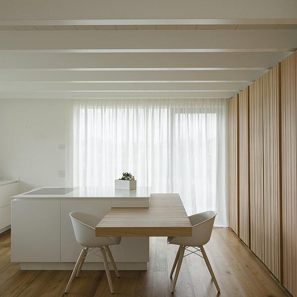 Salatto con mobili, pavimento di design in legno Corazzolla Arredamenti