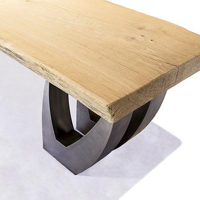Tavolo di design in legno e acciaio Corazzolla Arredamenti